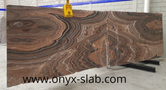 Bookmatched Onyx Slabs